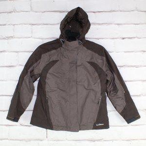 LL Bean Primaloft Winter Jacket Detachable Hood